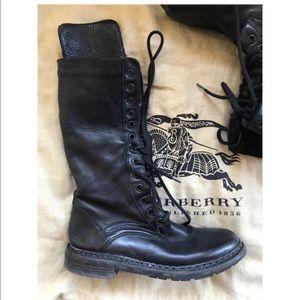 Burberry combat boots